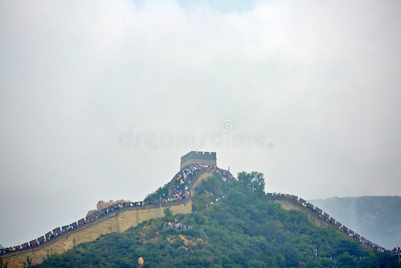 Grande Muralha na n?voa, Pequim, China imagem de stock royalty free