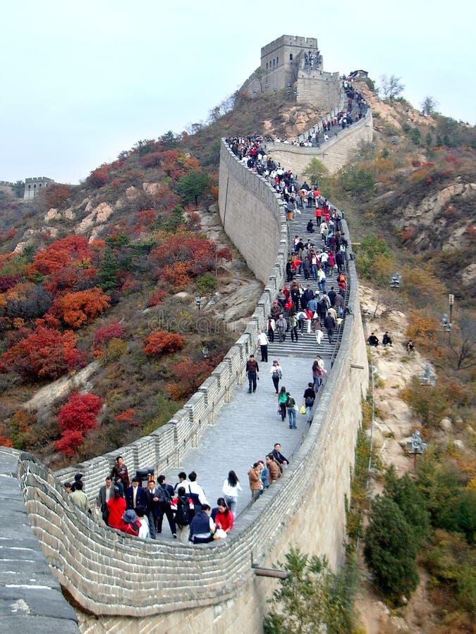 Grande Muralha no outono imagens de stock