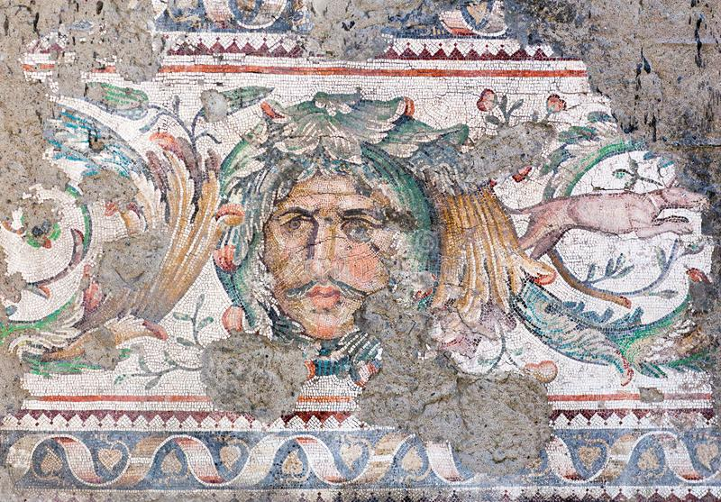 Grande museu do mosaico do palácio em Istambul, Turquia imagem de stock royalty free