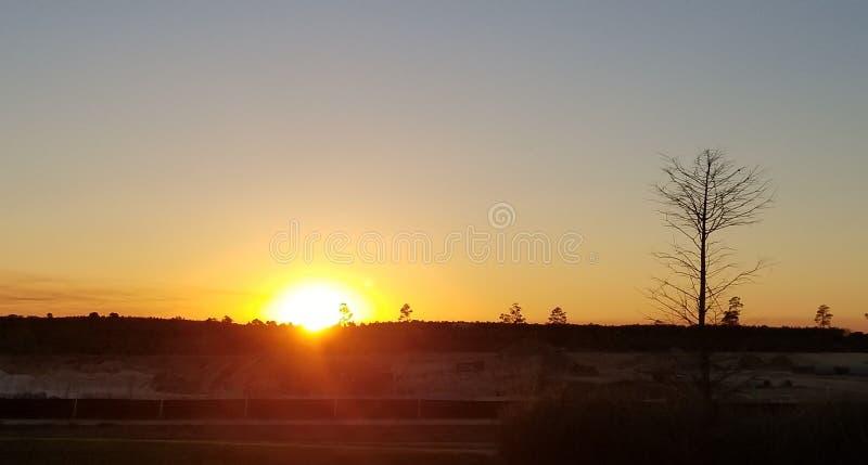 Grande nascer do sol fotografia de stock