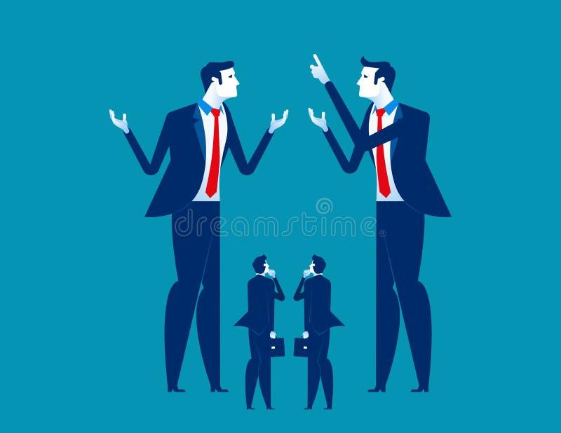 Grande negócio que explica à empresa de pequeno porte Ilustração do vetor do negócio do conceito ilustração royalty free