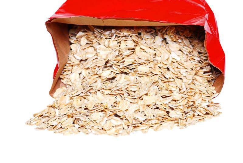 Grande oatmeal derramado do floco imagens de stock