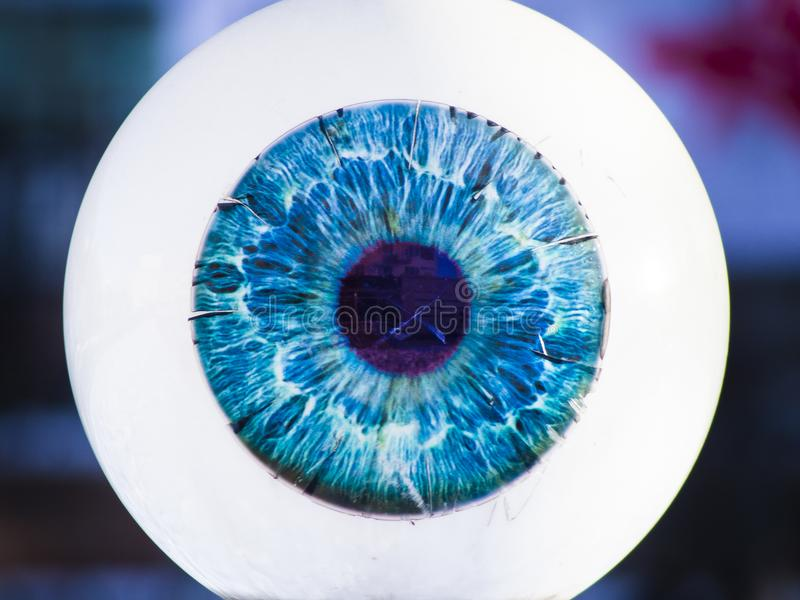 Grande occhio di vetro fotografie stock libere da diritti
