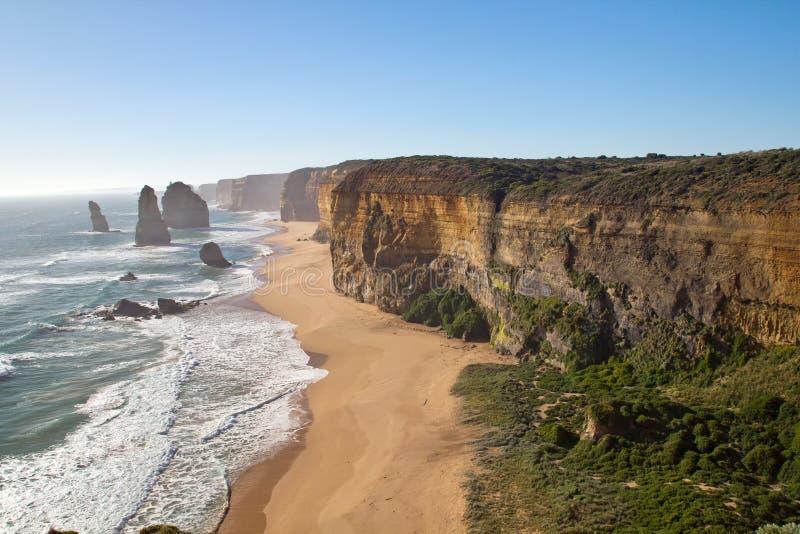 Grande oceano estrada de Austrália, doze apóstolos foto de stock