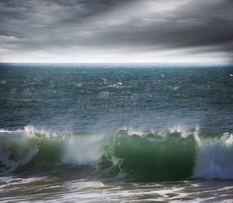 Grande oceano Wave verde fotografie stock