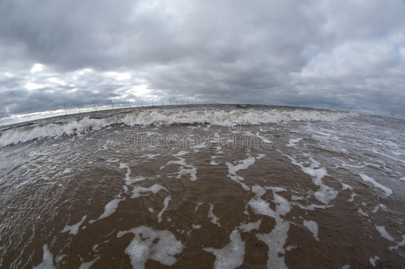 Grande onde d'océan image stock
