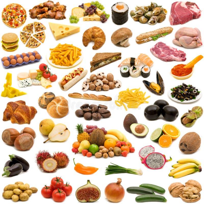 Grande página da coleção do alimento imagem de stock royalty free