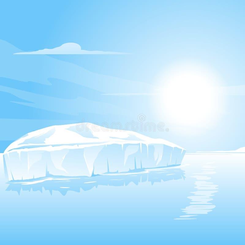 Grande paesaggio dell'iceberg illustrazione vettoriale
