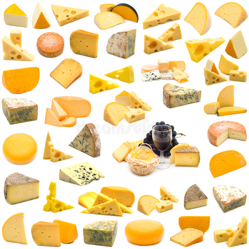 Grande pagina dell'accumulazione del formaggio fotografia stock