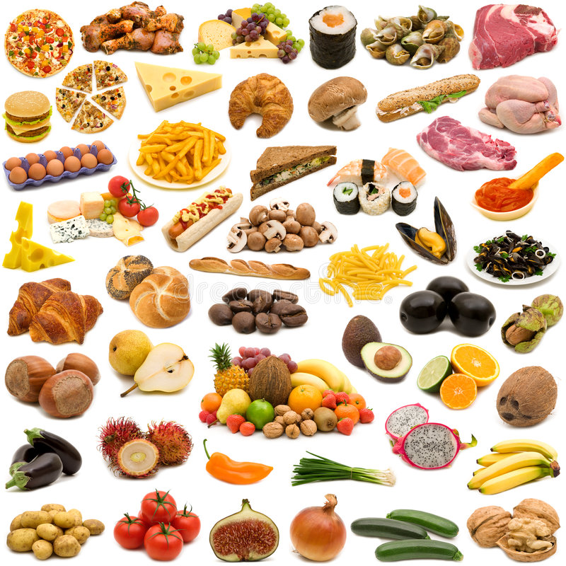 Grande pagina dell'accumulazione dell'alimento immagine stock libera da diritti
