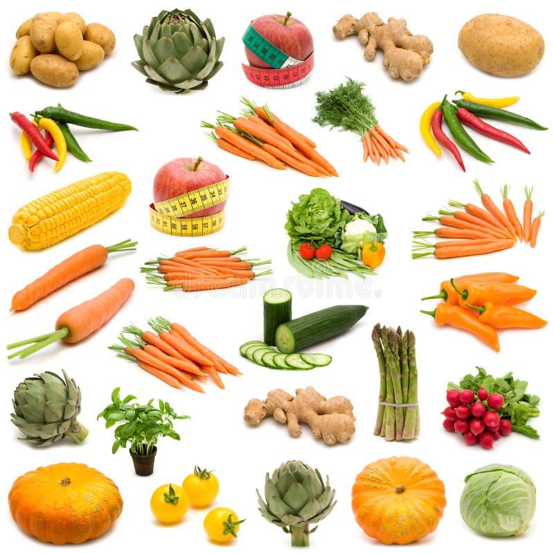 Grande pagina della verdura fresca fotografia stock