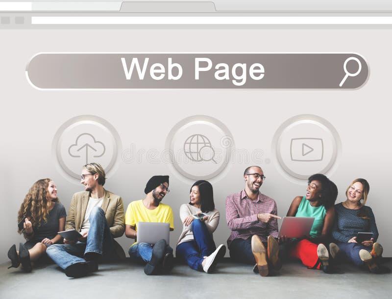 Grande pagina Web SEO Concept di dominio di dati illustrazione vettoriale
