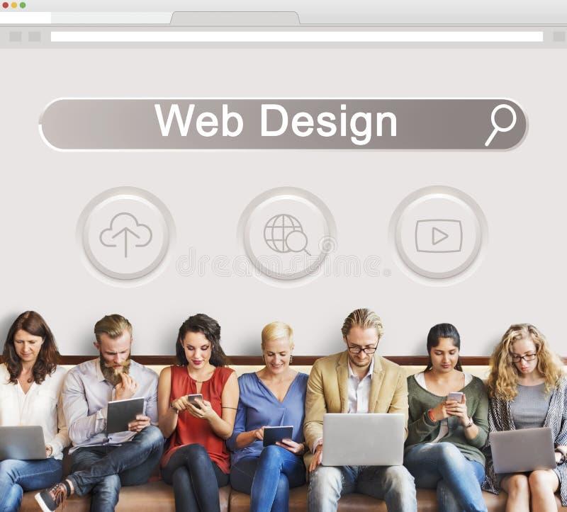 Grande pagina Web SEO Concept di dominio di dati immagine stock libera da diritti