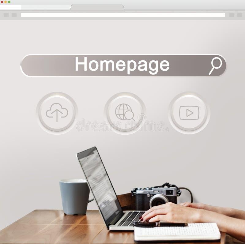 Grande pagina Web SEO Concept di dominio di dati immagini stock