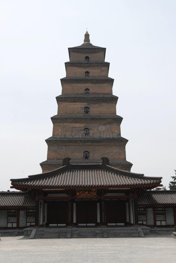 Grande pagoda sauvage d'oie dans Xian photos stock