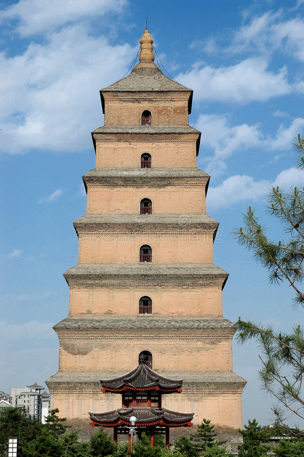 Grande pagoda sauvage d'oie de Xian photos stock