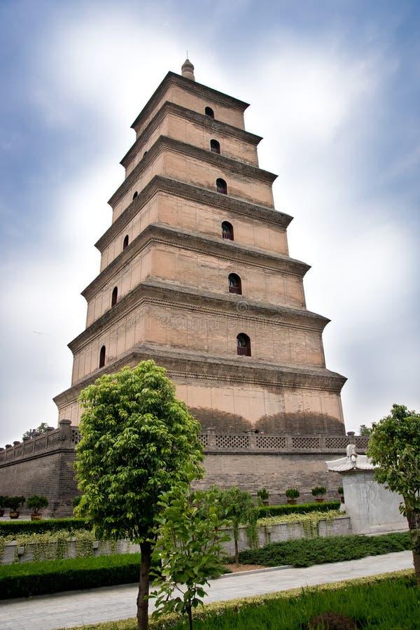 Grande pagode selvagem China do ganso foto de stock