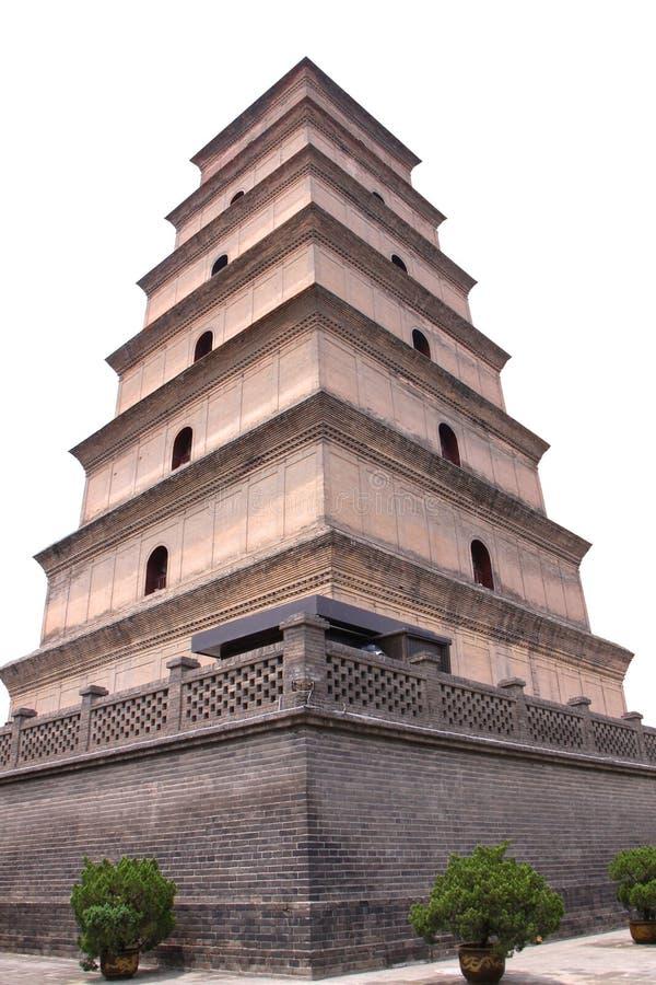 Grande pagode selvagem do ganso em Xi'an, China imagens de stock royalty free