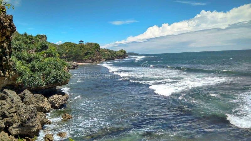 Grande paisagem da praia fotos de stock royalty free