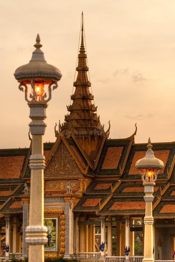 Grande palazzo, Cambogia. fotografie stock libere da diritti
