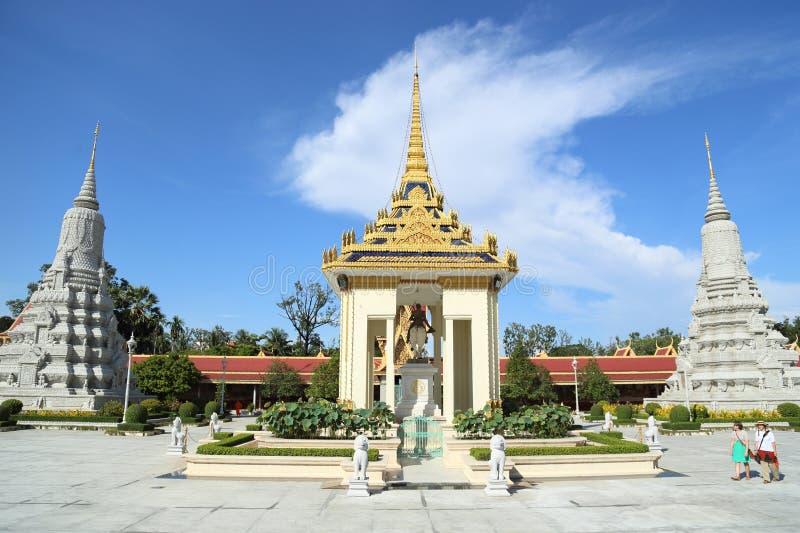 Grande palazzo, Cambogia immagini stock
