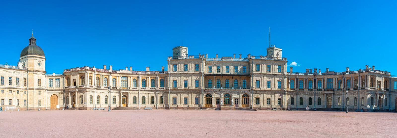 Grande palazzo di Gatchina fotografia stock libera da diritti