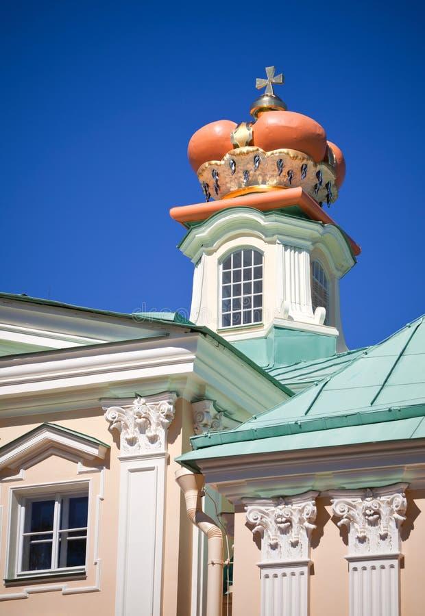 Grande palazzo di Menshikov, Oranienbaum, Russia fotografia stock libera da diritti