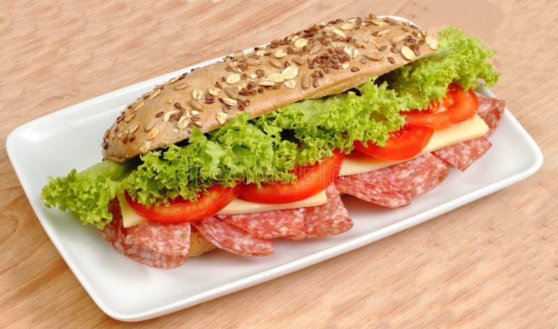 Grande panino immagine stock