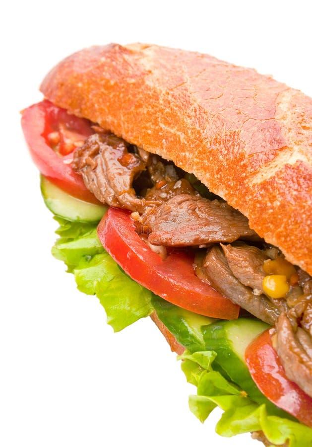 Grande panino con la verdura immagine stock