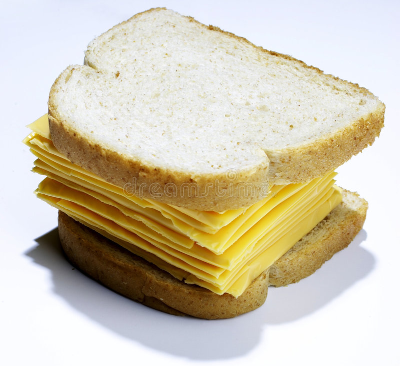 Grande panino del formaggio fotografia stock libera da diritti