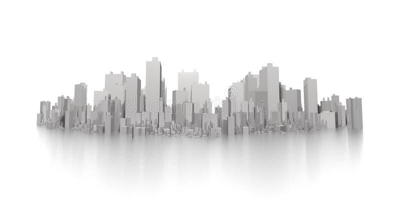 Grande panorama dell'orizzonte della città illustrazione di stock