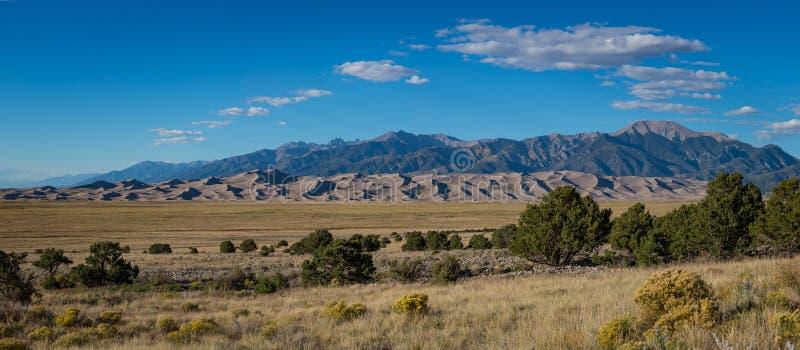 Grande panorama do parque nacional de duna de areia imagens de stock royalty free