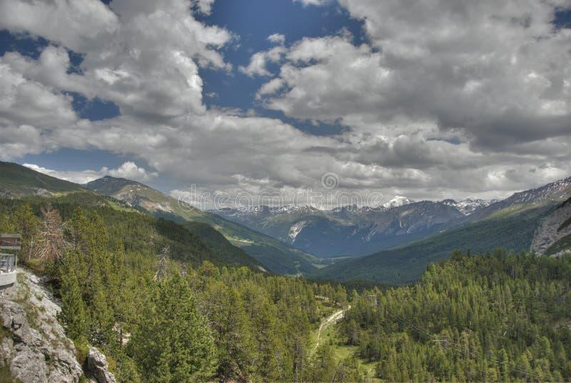Grande panorama Italia della montagna immagine stock