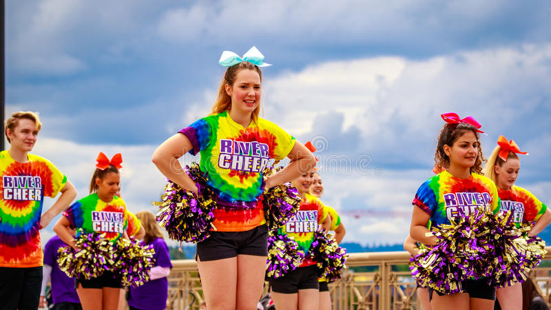 Grande parata floreale 2016 di Portland immagini stock