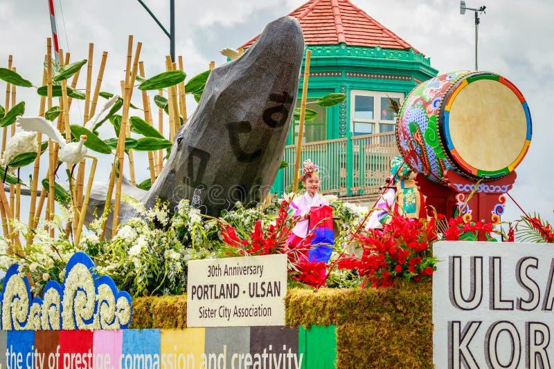 Grande parata floreale 2017 di Portland immagini stock