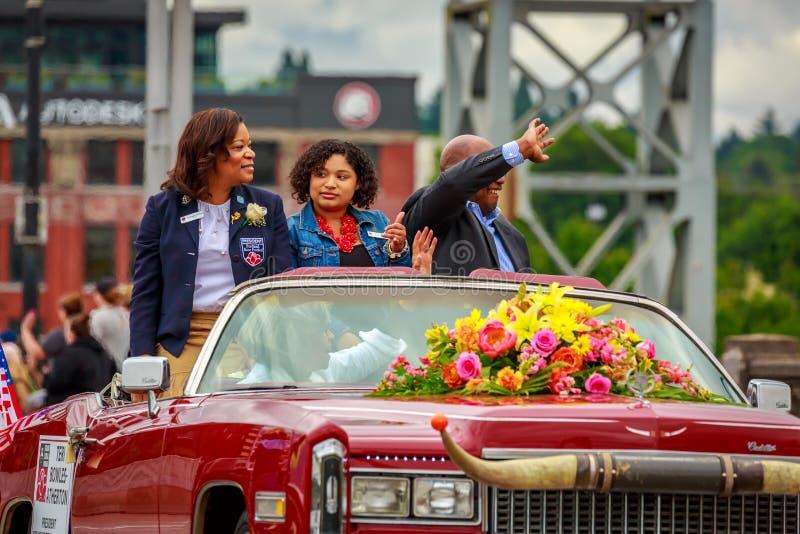 Grande parata floreale 2019 di Portland fotografia stock