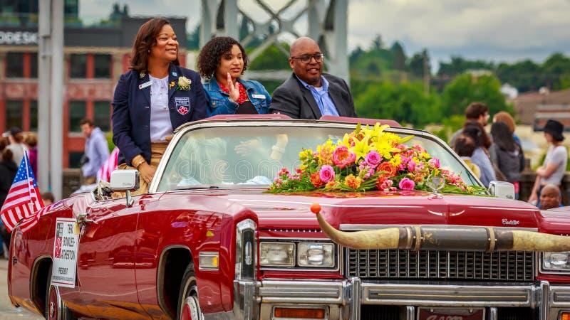 Grande parata floreale 2019 di Portland fotografie stock libere da diritti