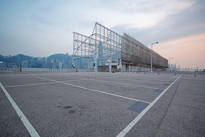 Grande parcheggio numerato dello spazio immagine stock