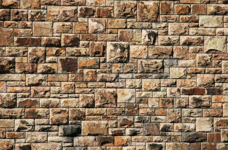 Grande parede de tijolo imagens de stock