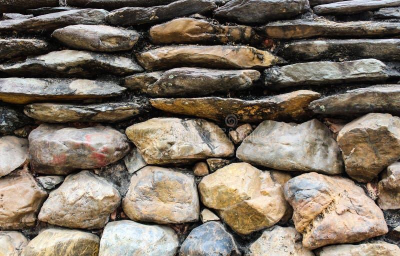 Grande parete di pietra fotografie stock