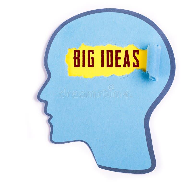 Grande parola di idee nella testa della persona royalty illustrazione gratis