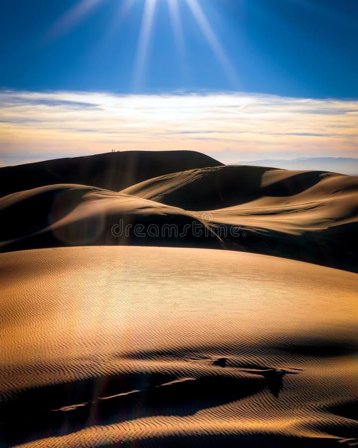 Grande parque nacional de dunas de areia em Colorado fotografia de stock
