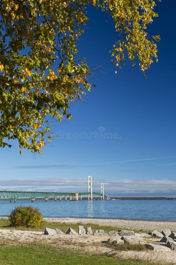 Grande passerelle de Mackinac photo stock