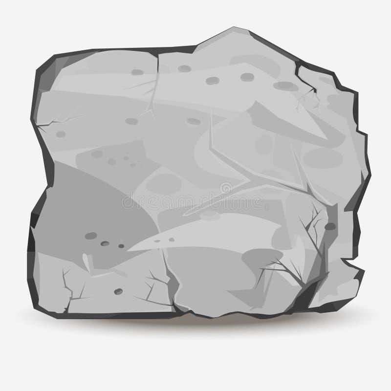 Grande pierre de roche illustration stock