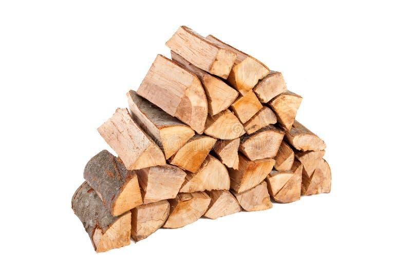 Grande pila di legna da ardere immagini stock