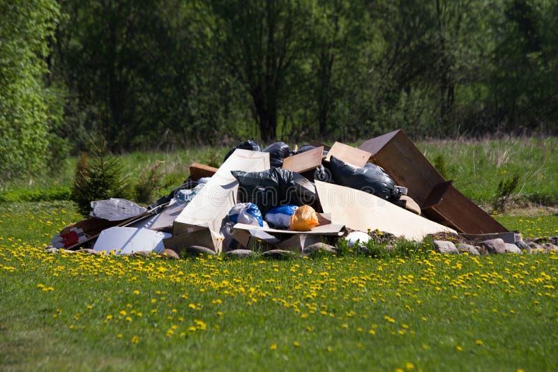 grande pile de déchets de déchets photo stock