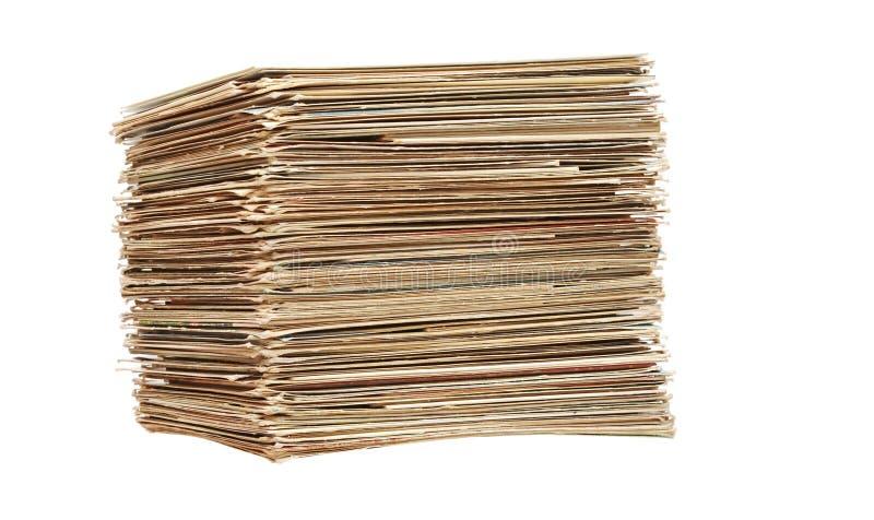 Grande pile de vieilles lettres et cartes postales image libre de droits