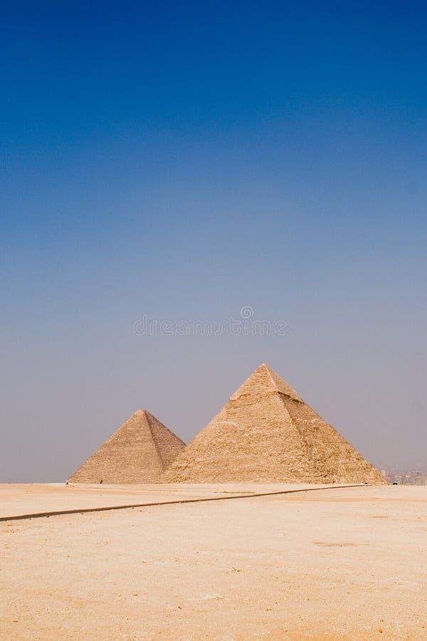 A grande pirâmide de Giza, Eygpt fotografia de stock royalty free
