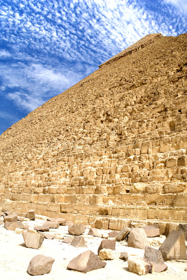 Grande pirâmide egípcia fotografia de stock royalty free