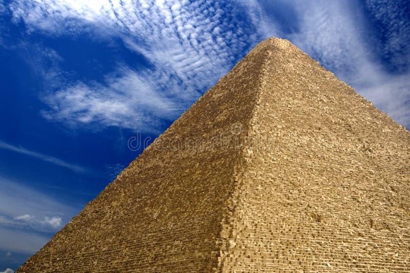 Grande pirâmide egípcia imagem de stock